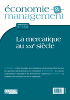 Revue Économie et Management n°158 janvier 2016