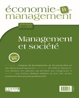 Revue Économie et Management n°168 juin 2018